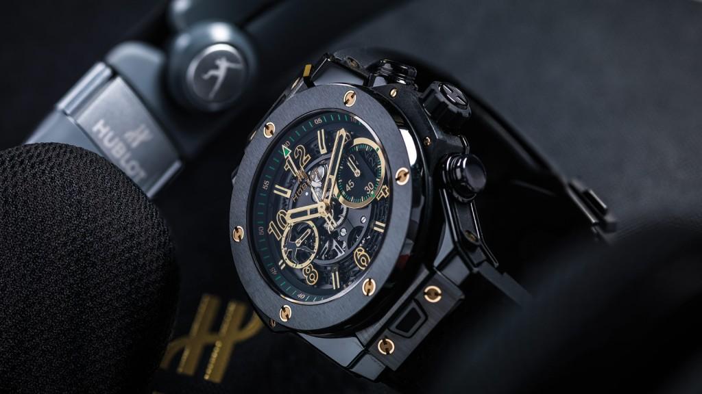 Hublot Big Bang UNICO Usain Bolt Fake Watches With Black Ceramic Cases
