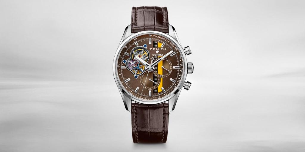 Zenith El Primero Chronograph Replica Watches With Brown Straps