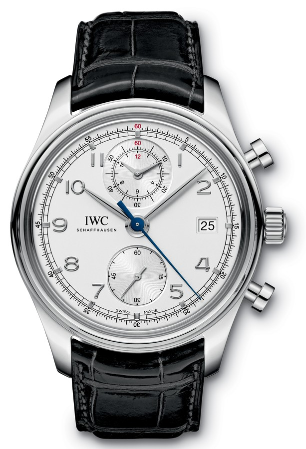 Black Alligator Straps IWC Portugieser Chronograph Classic Fake Watches