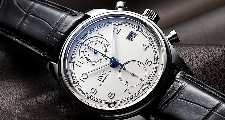 UK IWC Portugieser Chronograph Classic Fake Watches With Steel Cases