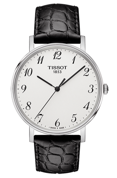 Black Leather Straps Replica Tissot Everytime Quartz Watches