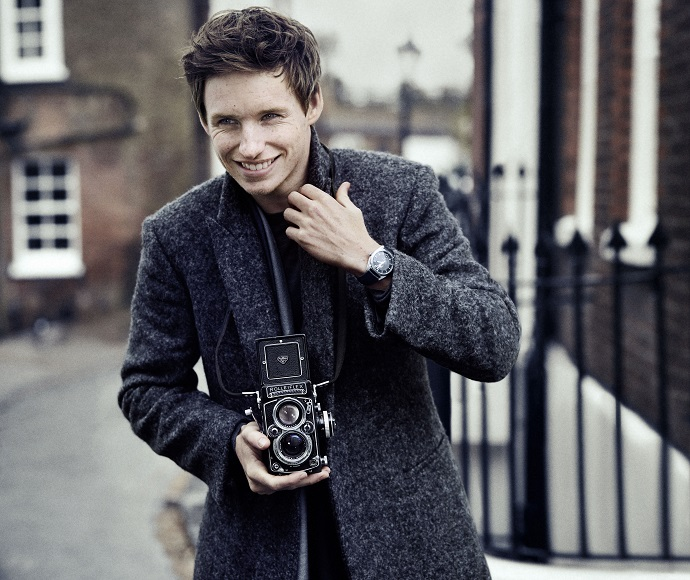 Eddie Redmayne With Omega Constellation Globemaster Fake Watches