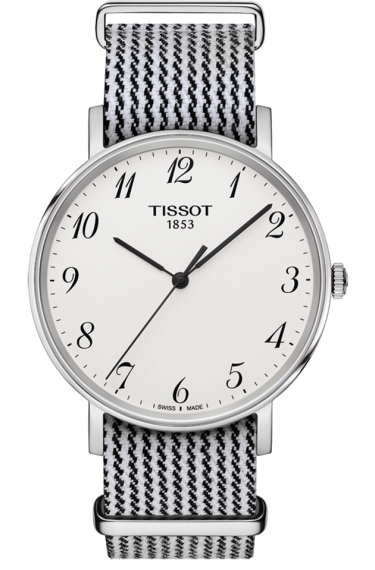 Replica Tissot Everytime Quartz Watches With Black & White Nato Straps