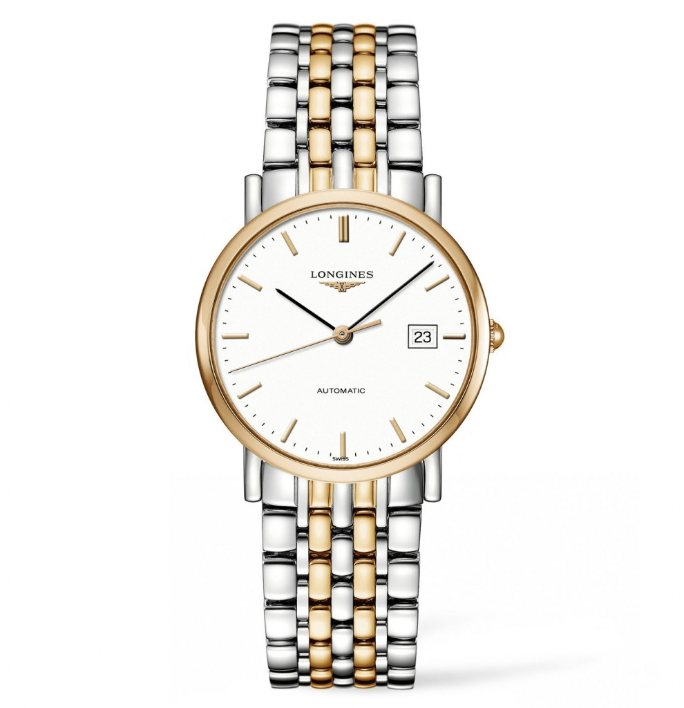 Steel And Golden Longines Elegant Fake Watches