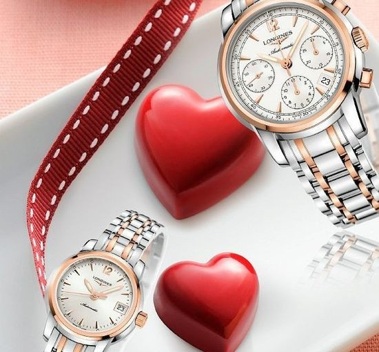 2017 UK Valentine' Day-Cheap Longines Saint Imier Replica Watches For Couple