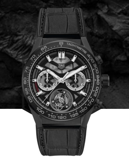 High Precision And Stability: TAG Heuer Carrera Replica Watches UK With Black Leather Straps