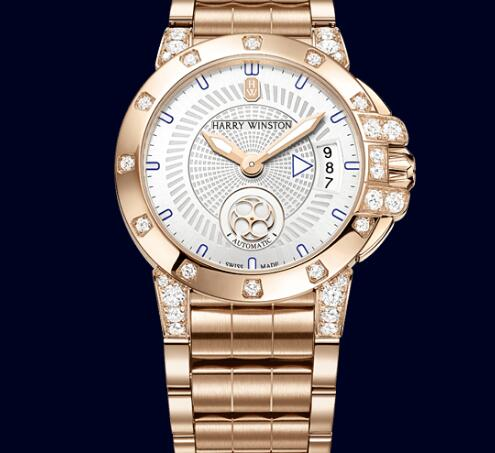 Luxury Harry Winston Ocean 36MM Automatic Swiss Watches Knockoff With 18K Rose Gold Bracelets For UK Recommendation