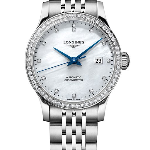 UK Elegant And Luxury Longines Record Fake Watches With Diamond Bezels For Hot Sale