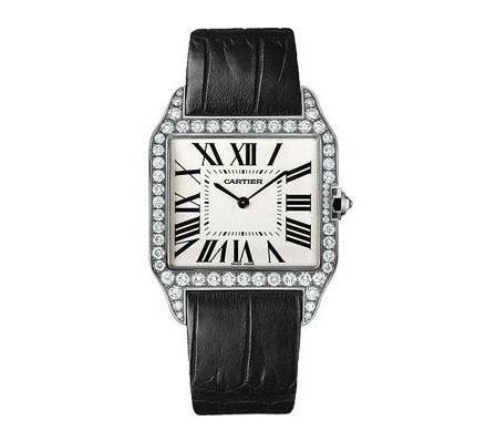 Large-Sized Santos De Cartier Men's Watches Replica UK With Diamond Bezels Of Noble Styles