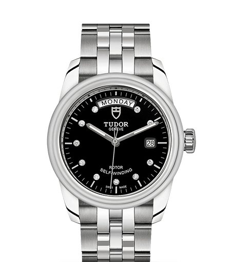 UK All Steel Tudor Glamour Replica Watches With Diamond Black Dials For Hot Sale