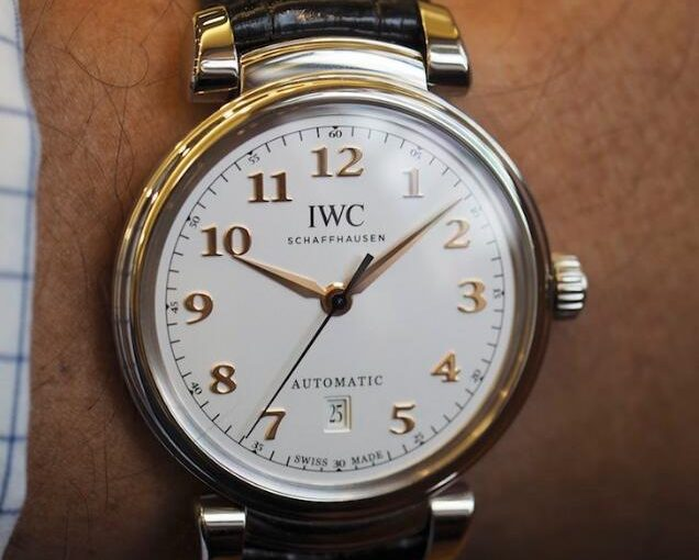 UK IWC Da Vinci Imitation Watches With Bright Black Leather Straps For Cheap Recommendation
