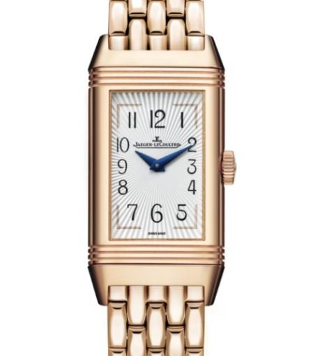 Exquisite And Elegant UK Jaeger-LeCoultre Reverso Replica Watches With Shiny Rose Gold Bracelets