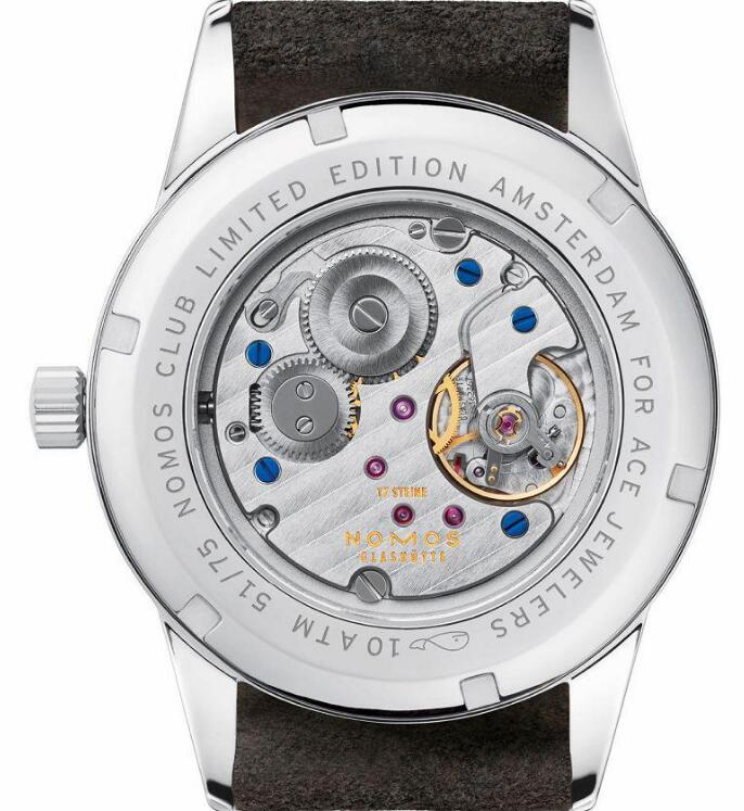 The exquisite movement could be viewed through the transparent caseback.