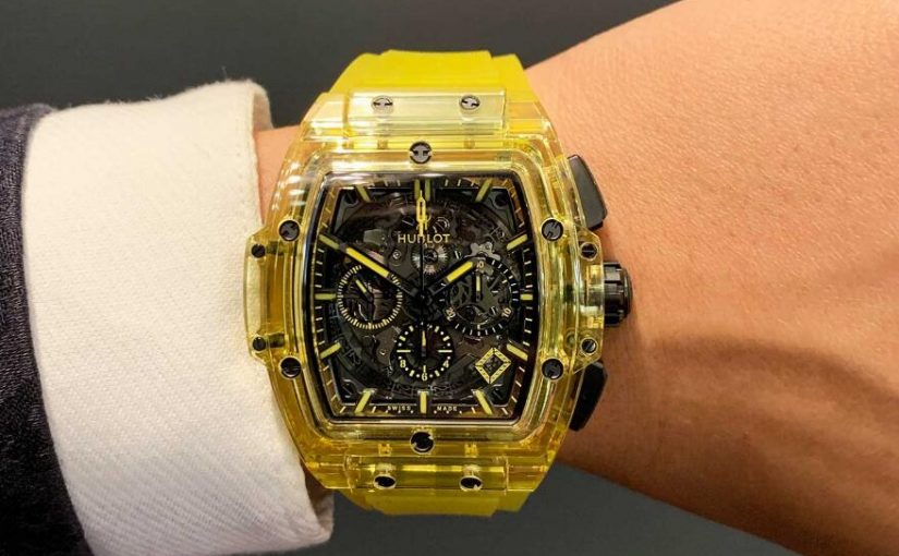 Distinctive Replica Hublot Spirit Of Big Bang Yellow Sapphire Watches Online Show Special Luster