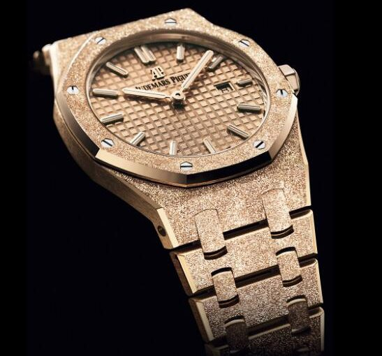 Refined UK Audemars Piguet Royal Oak Frosted Gold Replica Watches On Sale